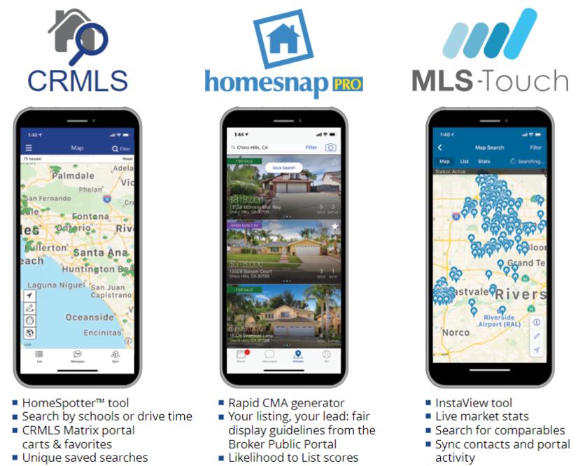CRMLS App choices