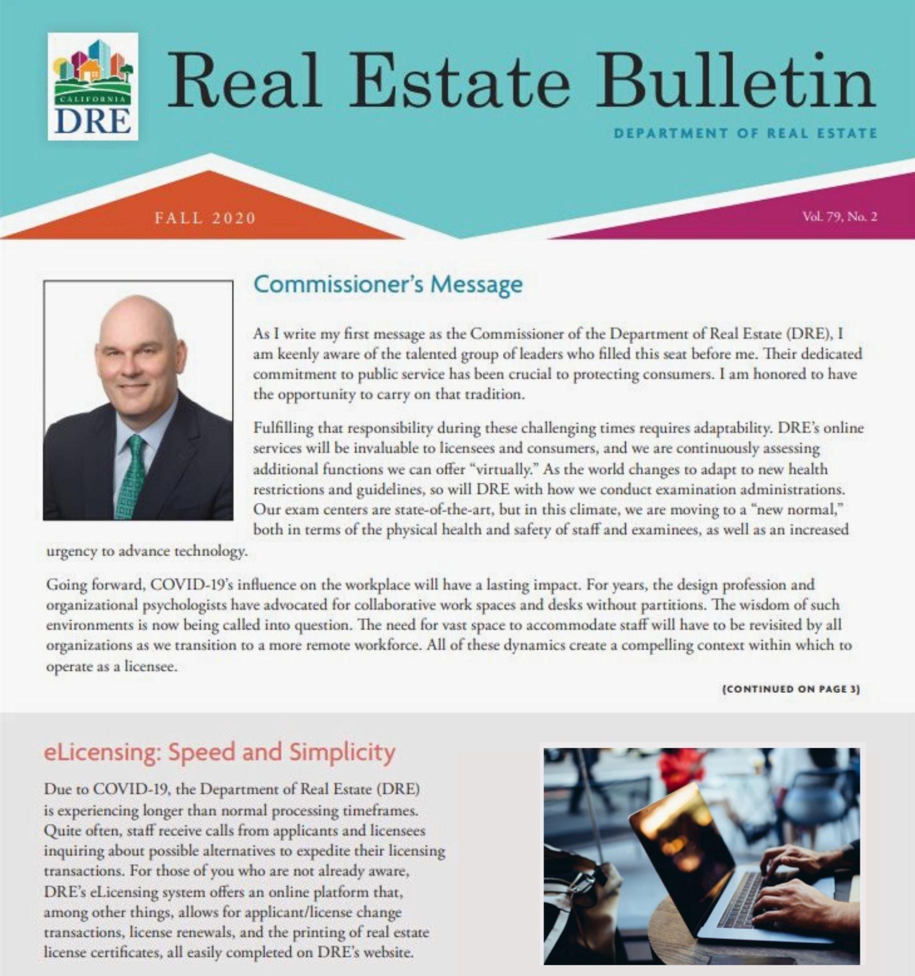 DRE Fall News Bulletin
