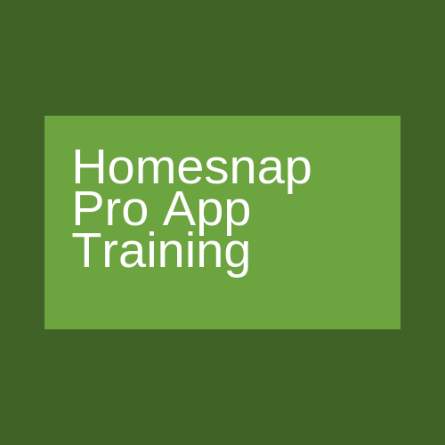 homesnap pro App training