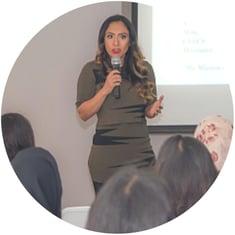 Sandra Gonzalez teaching