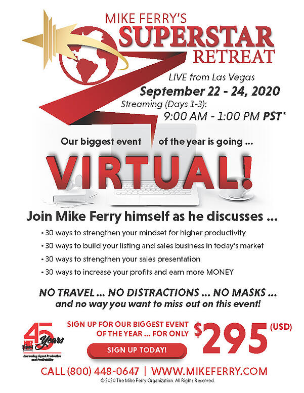 Virtual Superstar Retreat 2020 - Mike Ferry