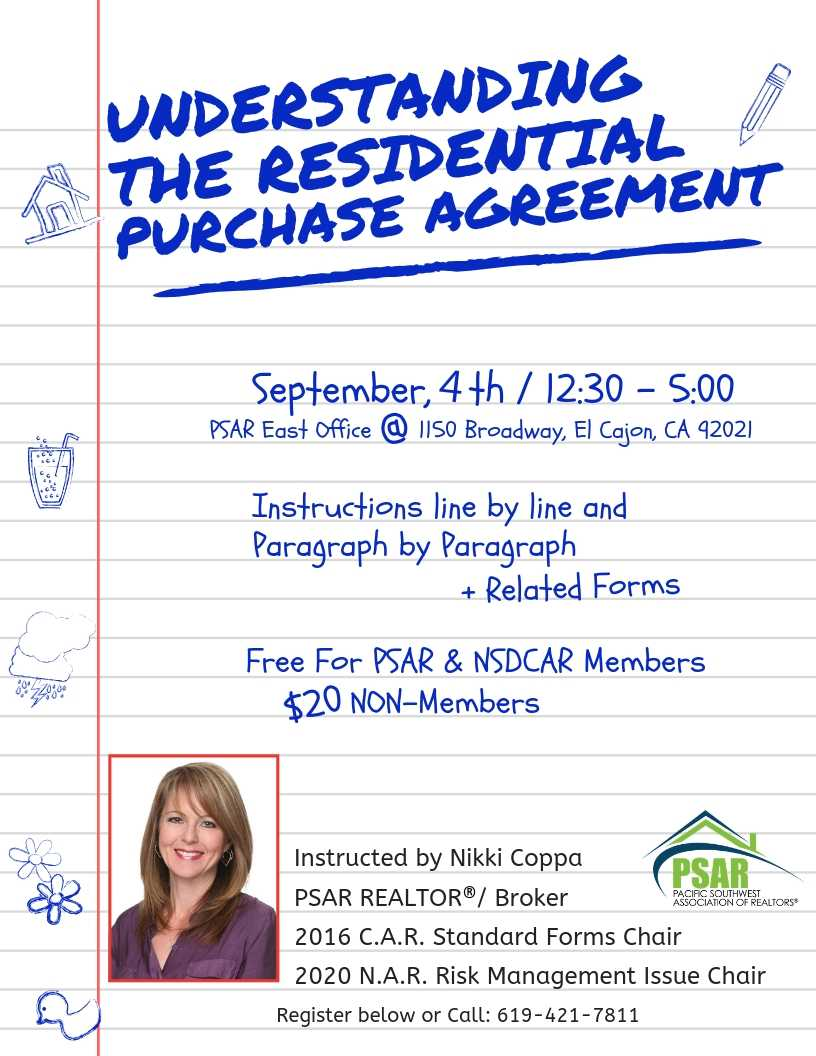 Residential Purchase Agreement with Nikki Coppa