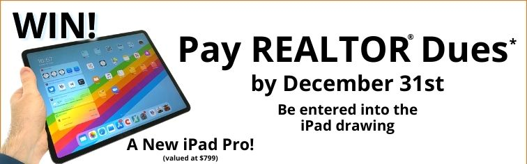 Pay Dues and win an iPad Pro